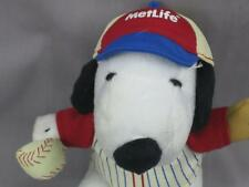 METLIFE INSURANCE SNOOPY PUPPY DOG BASEBALL BALL CAP GLOVE PLUSH STUFFED #1
