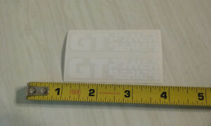 GT Power Series crank decals white on clear old school bmx