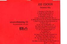 Joe COCKERGreatest Hits - Promo SamplerCDEMI Electrola– CDPP 0831998
