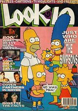 The Simpsons on Look-In Magazine Cover 8 December 1990    Roxette    Tony Daley