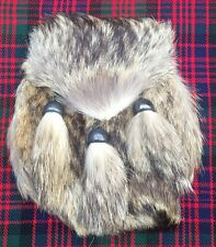 Scottish Highland Kilt Sporrans Fox Fur Head Kilt Sporrans/mens Kilt Sporrans