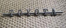 "Vinatge ""Toyota"" Hood Emblem Fender Nameplate Ornament Badge land cruiser  Rare"