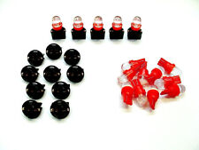 "15 Red Domes LEDs Lights Bulbs 1/2"" Sockets Instrument Panel Dashboard GM"