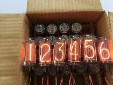 MATCHED SAME DATE 6x IN18 IN-18 ИН-18 NIXIE TUBES NOS NEW TESTED VIDEO CLOCK
