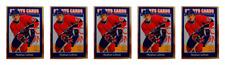 (5) 1992 Sports Cards #97 Stephan Lebeau Hockey Card Lot Montreal Canadiens