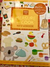 New ListingFirst Second Third Grade-Cooking Math Measure cookbook—learning school workbook