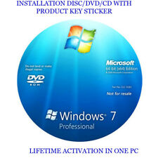 Windows 7 Professional 64-Bit Installation & Format HDD DVD Disc and COA key