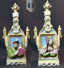 1820 porcelaine Paris Jacob Petit flacon parfum Shakespeare 33cm1,7kg bouteille