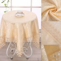 Jacquard Round Table Cloth Lace Square Tablecloth Hotel Party Coffee Desk Cover