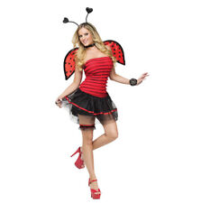 Lady Bug Sexy Red Ladybug Costume 10-14 Medium/Large Dress-Wings Only #5443