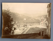 France, Au nord de Nice  Vintage citrate print.  Tirage citrate  6x8,5  Ci