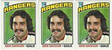 10 1976-77 TOPPS HOCKEY NEW YORK RANGERS CARDS (DAVIDSON x3+++)