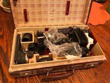 Leica screw mount macro bellows, visoflex, copy attachment and case