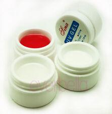3x 15ml UV Gel Nail Art Builder Pink Clear White 54066
