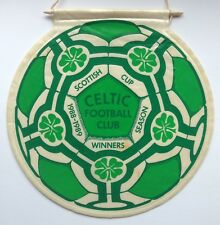Celtic 1988 and 1989 Scottish Cup Winners Pennant