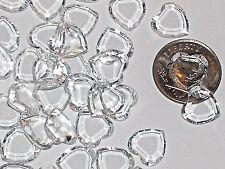 10pc Vintage Crystal SWAROVSKI Heart lot Rhinestones Cl unfoiled no hole 10mm
