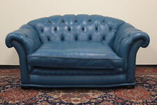 Divano chesterfield chester inglese 2 posti carta da zucchero / pelle / leather