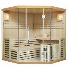 Saunakabine Sauna Ecksauna traditionell Saunaofen Massivholz Espoo180 Artsauna