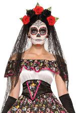 Day Of The Dead Bride Veil Halloween Fancy Dress Costume Accessory
