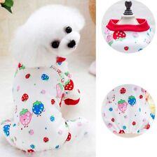 Pet Dog Puppy Pajamas Clothes Cotton Cartoon Jumpsuit Shirt Sleepwear Apparel