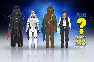 """SDCC 2018 Gentle Giant Exclusive: Star Wars - 3.75"""" Figures Enamel Pin Set, NEW"""