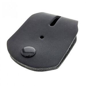 Universal Fit Law Enforcement Belt Clip Badge Holder Heavy Gauge Leather