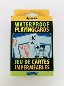 Transparent Waterproof Playing Cards with Carrying Case Outdoors Water Toy 3x2