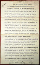 Urzo Oilfields Limited. Details of A Proposition Letter dated 4th July 1917