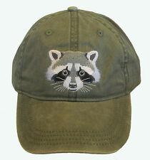 Raccoon Embroidered Cotton Cap New Hat Wildlife Mammal Coon