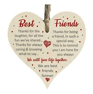Best Friends Forever True Friendship Thanks You Wooden Plaque Sign Gift htc36