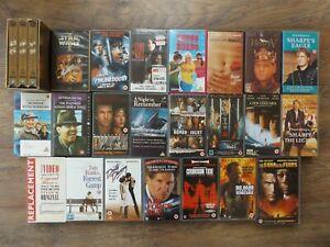 VHS Video Tapes Bundle Job Lot Drama Thriller Star Wars Sharpe Braveheart