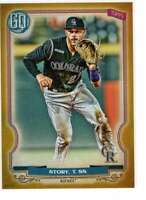Trevor Story 2020 Topps Gypsy Queen 5x7 Gold #111 /10 Rockies