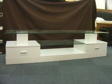1.6m LED TV Stand entertainment High Gloss white | free postage for Melb. metro
