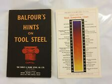 Vintage Manual- Balfours Hints On Tool Steel (Eagle & Globe Steel Co, England)