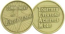 Commitment To Excellence Together Everyone Achieves More Bronze Medal Coin TEAM