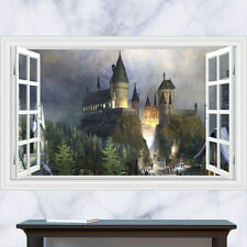 Generisches 3D Windows Harry Potter Hogwarts Magic Castle Wandtattoo Dekor