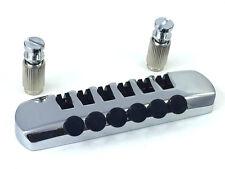 Schaller Chrome Fine Tuning Guitar Stop Tailpiece TP-0398-010