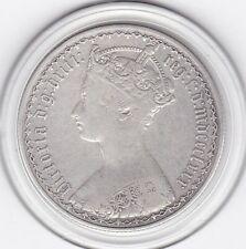 1880   Queen  Victoria  'Gothic'  Florin  (2/-)  Silver  Coin