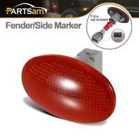 Rear Fender Side Marker Light Lamp Cover Lens w/ Socket for 99-10 Ford F350 F450
