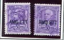 Trieste IC47 USED Industrial Commercial left & right tax stamp