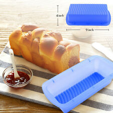 Non-stick Silicone Loaf Square Bread Cake Toast Baking Mold Wave Bottom Pan Mold