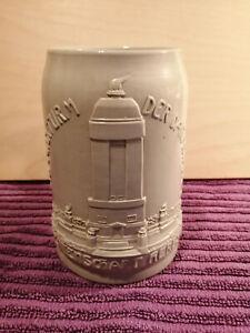 Antiker Bierkrug MERKELBACH Studentenschaft Darmstadt von 1908, Top Zustand 0,5L