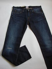 VAQUEROS EDWIN ED80 PITILLO oscuro algodón azul rigger repair TALLA W30 L32