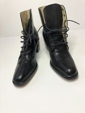 Vintage Gap Shoes Made In Brazil Size 6B Rare Boots Leather Black 1995 Laces