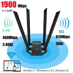 1300Mbps 2.4G / 5G Dual Band USB 3.0 WiFi Adapter 6d/Bi w/Antenna