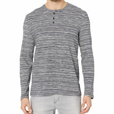 Kenneth Cole Long Sleeve Three-Button Henley Knit Top Size L