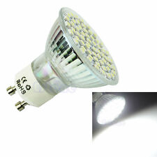 GU10 60 LED 3528 SMD 5W 220V Pure White 6500K High Power Spot Light Lamp Bulb