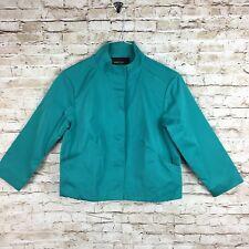 Lafayette 148 NY blazer turquoise blazer sz P petite sheen button front career