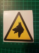 Beware of the Dogs WARNING SAFETY SIGNS Stickers 4 Pack Car/Van/Walls/Windows