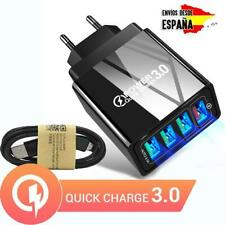 Cargador de carga rápida para móvil QUALCOMM 3.0 4 USB + MICRO USB / TIPO C